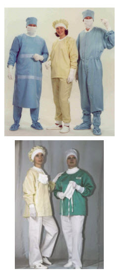 Sets of barrier surgical clothing to protect against cross-contamination PP249