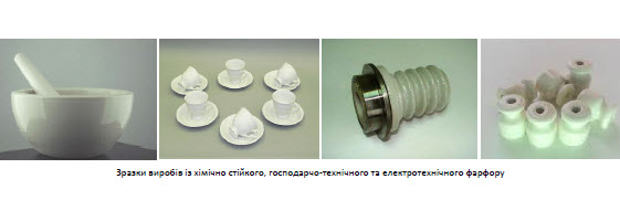 Energy saving technologies of porcelain products for different purposes PP144