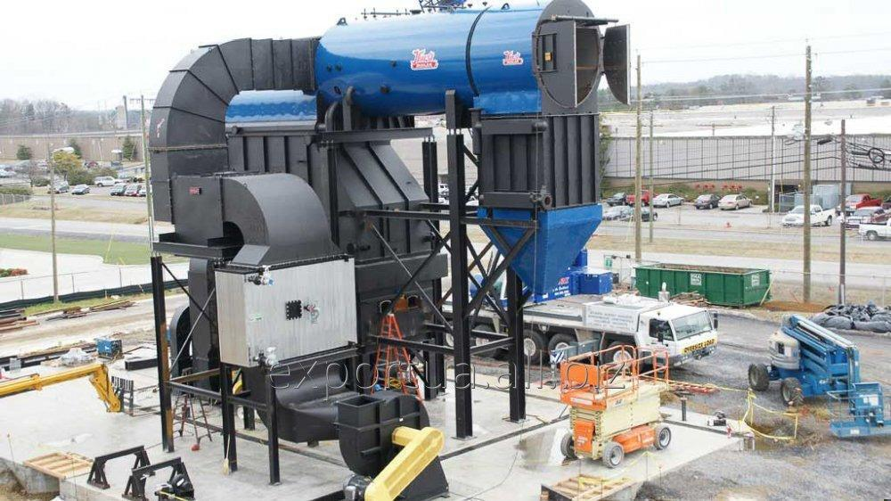 An oven for burning solid household waste up to 86,000 tons / year and generating electricity from 6 MW / hour.