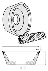 Buy Norton Diamond Wheels - CBN Flaring Cup Wheels - Type 11V9