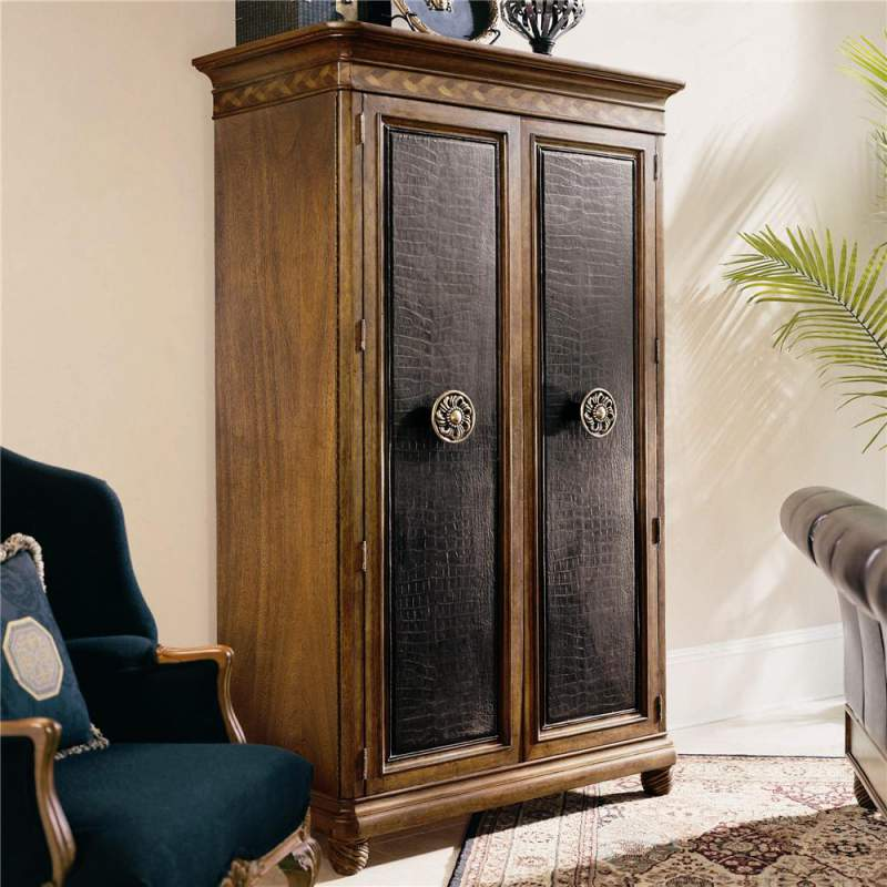 Armoire with Leather Door Fronts Bob Mackie Home Classics & Armoire with Leather Door Fronts Bob Mackie Home Classics buy in ...