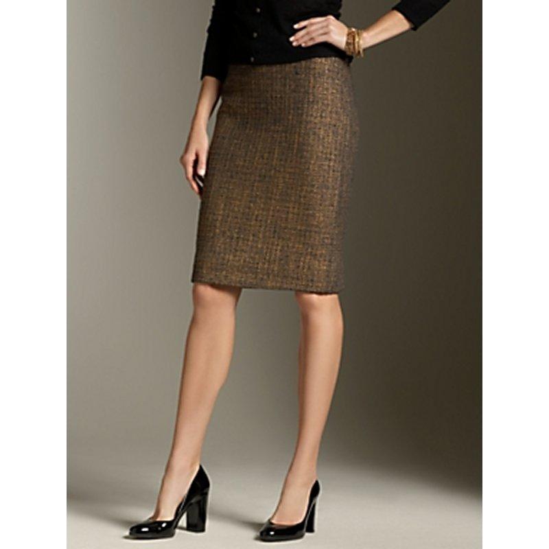 Foil-Printed Tweed Pencil Skirt — Buy Foil-Printed Tweed Pencil ...