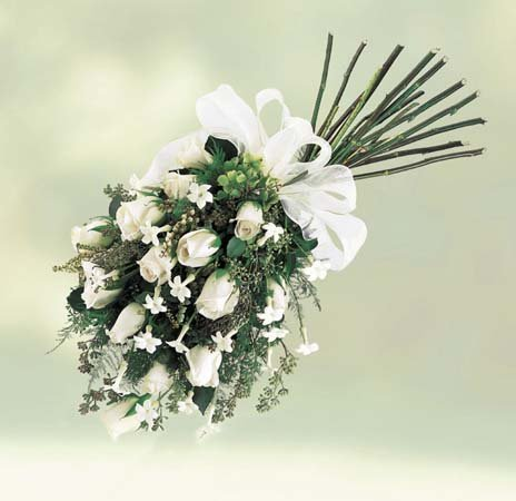 Buy Rose and Stephanotis Inverted Hand-tied Bouquet