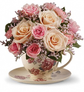 Buy Teleflora's Victorian Teacup Bouquet
