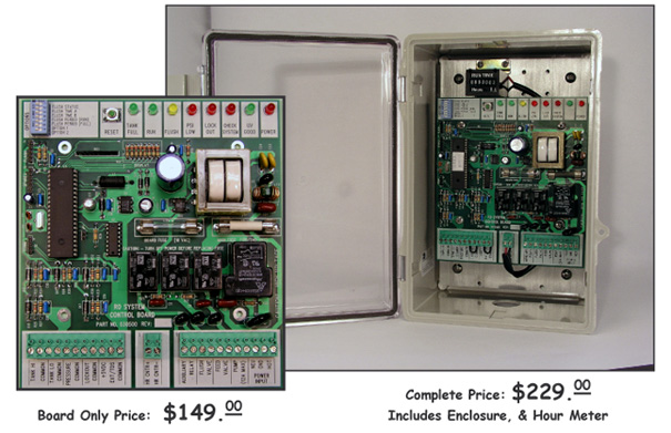 """Buy Reverse osmosis system controller with """"run time"""" hour meter & delivery pump control ESDI model 503"""