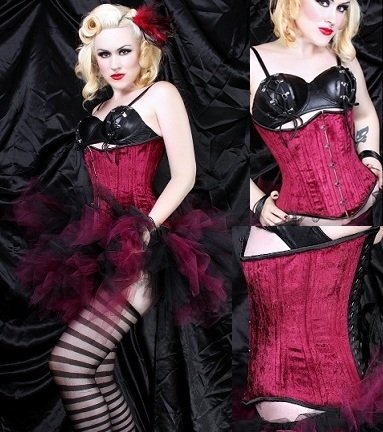 Buy  Dangerous Sexy Ruby Underbust Lace up Corset [TUB-200]
