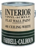 401 Vinyl Acrylic Interior Latex Flat Ceiling White Paint