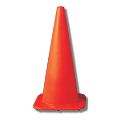 Buy 18 W Orange Traffic Cone - 2.5-lbs.