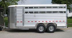 Buy Deluxe II Aluminum Livestock Bumper Pull Trailer