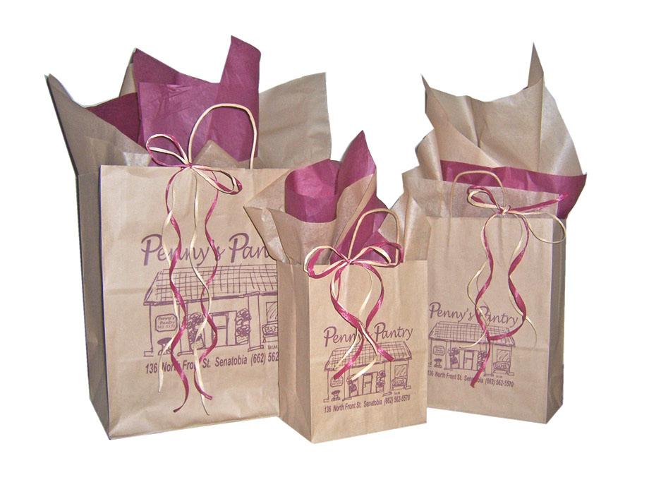Buy Post Printed Natural Kraft Shopping Bags