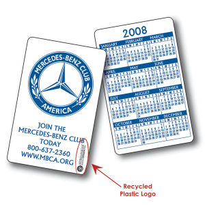 Buy Custom 4-color process (front and back) 30 mil plastic calendar card