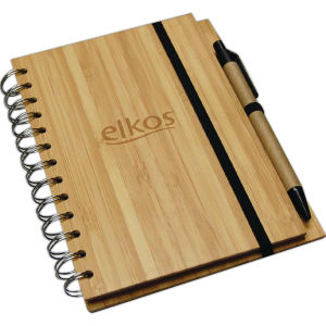 Buy Bamboo notebook with pen