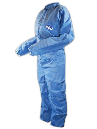 Blue PolySpun Coverall 3x No Hood/Boot-25/case