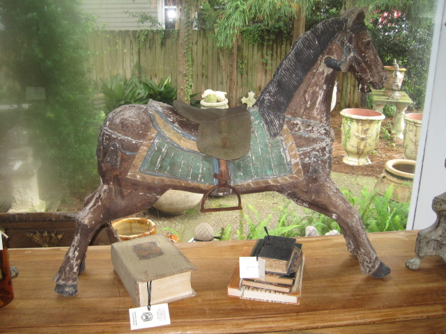 Buy Wooden Horse with saddle and stirrups