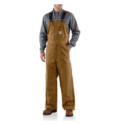 Buy Men's Flame-Resistant Midweight Bib Overall/Quilt Lined