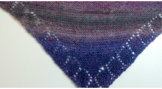 Buy Lace-Edged Triangle Scarf