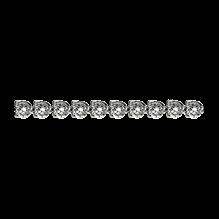 Buy Three-Prong Round Diamond Straight Line Eternity Bracelet