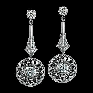 "Buy ""Trellis"" Collection Earrings with Detachable Diamond Studs"