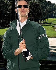 Buy A69 adidas Golf Men's ClimaProof® 3-Stripes Full-Zip Jacket