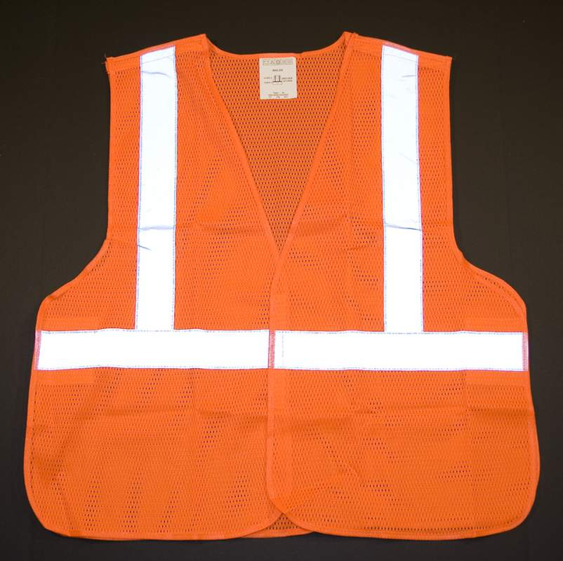 Class 2 Safety Vest W/5-point Break-away Safety Feature - Orange