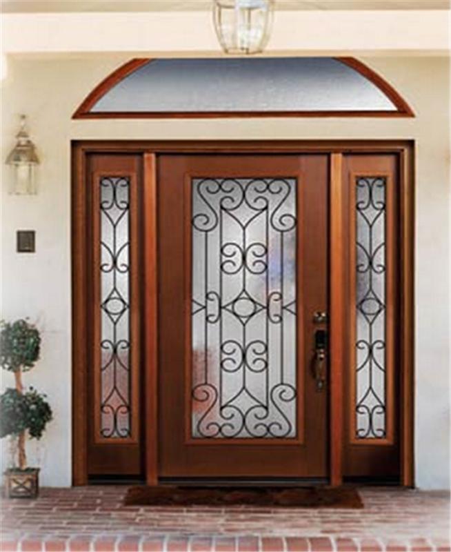 дизайн входной парадной двери в классическом стиле