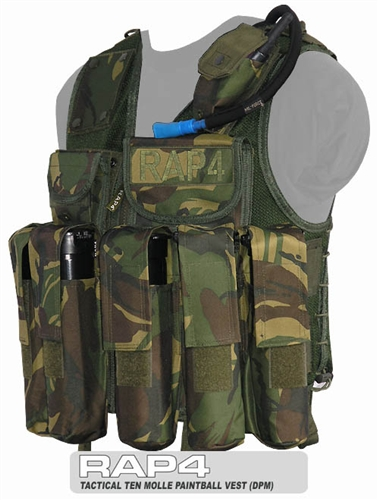 Buy Tactical Ten Paintball Vest Clearance 2009 Version (British Disruptive Pattern Material - DPM)
