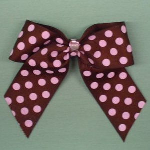Buy Chocolate and Pink Dot Bow