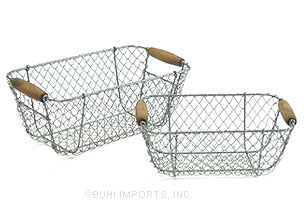 Buy 2 set of 2 Wire Rectangle Tray