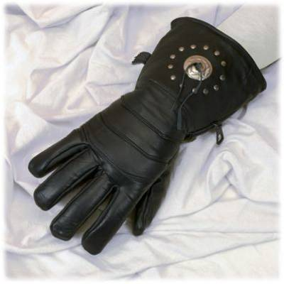 Buy All leather glove with concho and lining