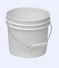 Buy 1 Gallon Plastic Pail, White,