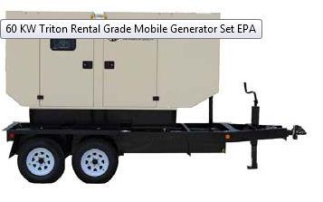 Buy 60 KW Triton Rental Grade Mobile Generator Set EPA
