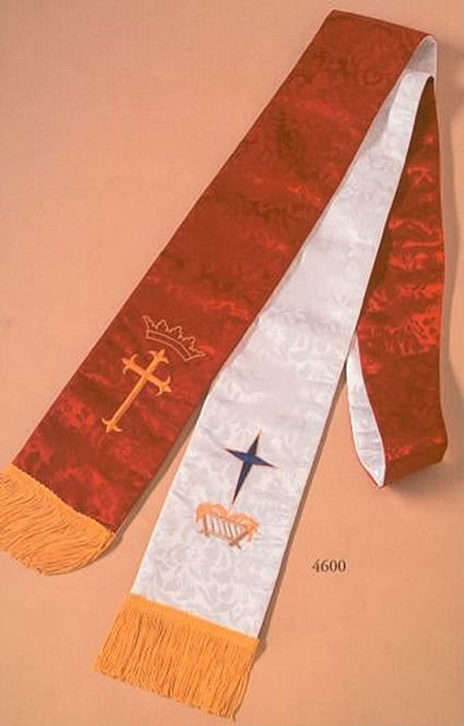 Red & White Clergy Stole 4600