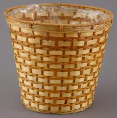 10 Inch Bamboo Potcover Basket