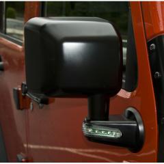 Mirror Rh, Black With Turn Signal Indicators, Jeep