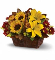Golden Days Flower Basket T174-2A