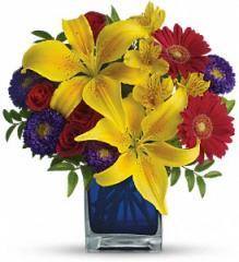 Teleflora's Blue Caribbean Bouquet T05N440A