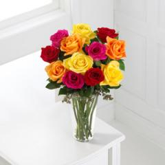 The FTD® Bright Spark™ Rose Bouquet N5-4310