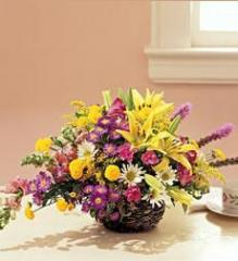 A Spring Basket Bouquet