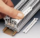 Terminal block/DIN rail and labels