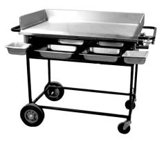 "36"" Portable Gas Griddle with fixed base"