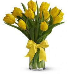 Sunny Yellow Tulips Bouquet T140-1A