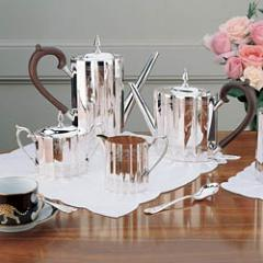 Lunt Sterling and Silverplated Revere Tea Sets