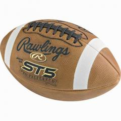 Rawlings ST5 Offical Leather Football NFHS