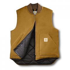 Carhartt Duck Arctic Vest (Brown) - Quilt Lined