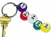 Acrylic Bingo Ball Key Chain