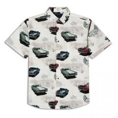 Burning Rubber Print Shirt