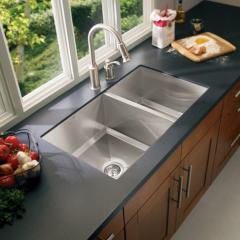Lancelot Stainless steel 16 gauge double bowl sink