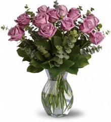 Dozen Premium Lavender Roses T68-1A