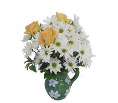 Daisy Pitcher Bouquet