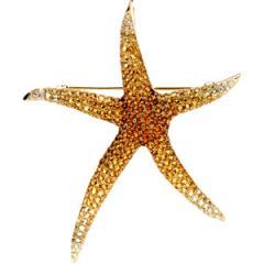 Brooch Pendant, Diamond Starfish